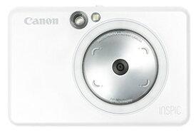 【送料無料】Canon・キヤノン カメラ機能付き スマホOK ミニフォトプリンター iNSPiC ZV-123-PW ホワイト【楽ギフ_包装】【***特別価格***】