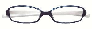 【送料無料】変なメガネ HM-1001 COL.3/52 +2.0 ブルーホワイト 度数+2.0 老眼鏡 ブルーライトカット くるっと回転レンズを守る シニアグラス【楽ギフ_包装】