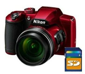 今ならSDHC4GB差し上げます【送料無料】Nikon・ニコン B600RD 光学60倍ズーム1440mmデジカメ COOLPIX B600 レッド【楽ギフ_包装】【***特別価格***】