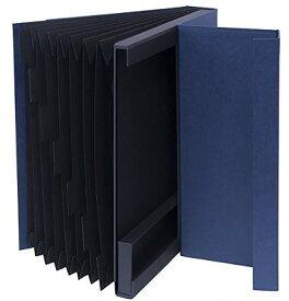 【送料無料】使わないときシンプルな紙箱収納 ドキュメントファイルA4【収納】LST-DFA4NV【文具】ナカバヤシ ライフスタイルツール ドキュメントファイル A4サイズ ネイビー【楽ギフ_包装】
