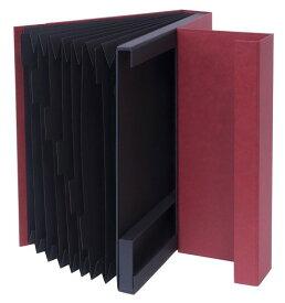 【送料無料】使わないときシンプルな紙箱収納 ドキュメントファイルA4【収納】LST-DFA4WR【文具】ナカバヤシ ライフスタイルツール ドキュメントファイル A4サイズ ワインレッド【楽ギフ_包装】