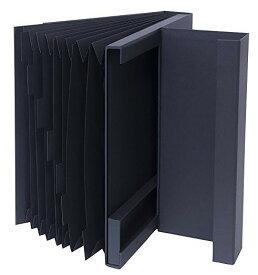 【送料無料】使わないときシンプルな紙箱収納 ドキュメントファイルA4【収納】LST-DFA4BK【文具】ナカバヤシ ライフスタイルツール ドキュメントファイル A4サイズ ブラック【楽ギフ_包装】