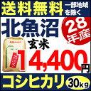 北魚沼産コシヒカリ 30kg 玄米 H28年産 米 【送料無料】(一部地域を除く)