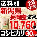 新潟県長岡産コシヒカリ 30kg 玄米 H28年産 米 【送料別】