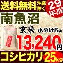 南魚沼産コシヒカリ 25kg 玄米 29年産 米 【送料無料】(沖縄を除く)