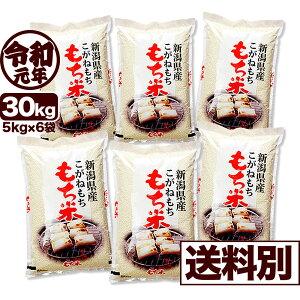 こがねもち米 30kg 白米 令和元年産 新潟産 米 小分け6袋【送料別】