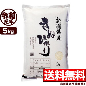 キヌヒカリ 5kg 令和元年産 新潟産 米【送料無料】(北海道、九州、沖縄除く)