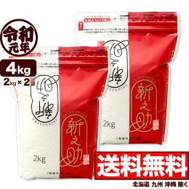 新潟産 新之助 4kg (2kg×2袋 シングルチャック袋) 令和元年産 【一等米使用】【送料無料】(北海道、九州、沖縄除く)