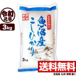 魚沼産コシヒカリ スーパーフレッシュパック 3kg 令和元年産 米 【送料無料】(北海道、九州、沖縄除く)