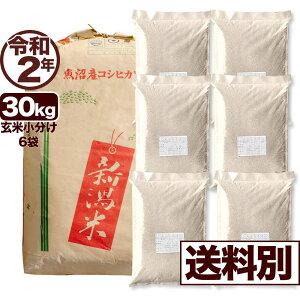北魚沼産コシヒカリ 30kg 玄米 令和2年産 米 小分け6袋【送料別】