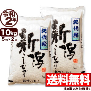 矢代産コシヒカリ 10kg(5kg×2) 令和2年産 新潟産 米 【送料無料】(北海道、九州、沖縄除く)