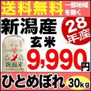 ひとめぼれ 30kg 玄米 H28年新潟産 米 【送料無料】(一部地域を除く)