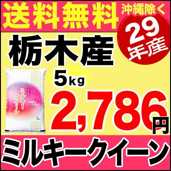 栃木県産ミルキークイーン 5kg 平成29年産 【送料無料】(沖縄を除く)