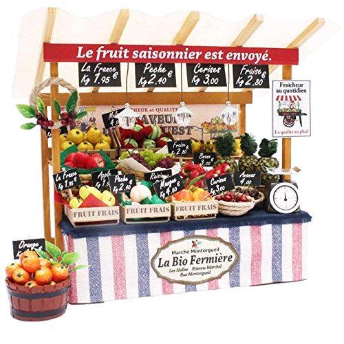 ビリー ドールハウスキット 8843 パリのマルシェキット パリの果物屋さん【お取り寄せ商品】【ドールハウス、手作りキット、ジオラマ】