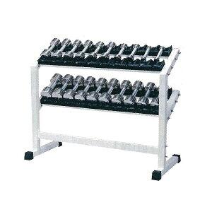 【別途送料が掛かります(K)】PCS-3150 クロームダンベル・ラック付セット1kg〜10kg付(6〜10kg回転式)【メーカー直送品】【同梱/代引き不可】