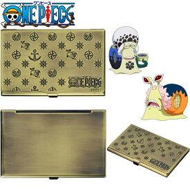 ハッピーラボラトリー 70316 ONE PIECE 電伝虫メタルカードケース ブラス [ドフラミンゴ]【お取り寄せ商品】【名刺入れ、カードケース】