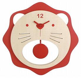 イシグロ 31222 木製振り子時計 ライオン レッド【お取り寄せ製品】【振り子/クロック/時計】