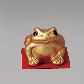信楽焼 566-05 金運蛙(小)【メーカー直送品】【同梱/代引不可】【信楽焼 縁起物 置物】