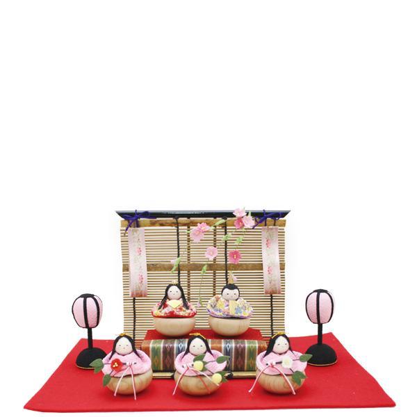 【2019今季終了】リュウコドウ 1-709 雛人形 ゆらゆら御簾調雛5人揃い【お取り寄せ商品】【雛人形/ひな祭り/お雛様】