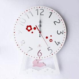 ヤマト工芸 YK14-104-WH CHILD clock(振り子時計)うさぎ【お取り寄せ製品】【クロック 時計 掛け時計 yamatojapan】