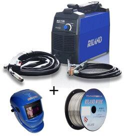 RILAND(リランド)ノンガス半自動溶接機MIG100(溶接自動遮光面X501+専用溶接ワイヤー0.8mm×1kg付)