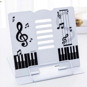 【送料無料】 譜面台 書見台 楽譜スタンド キ ーボードスタンド 卓上 折りたたみ 軽量 楽譜 持ち運びに便利 白