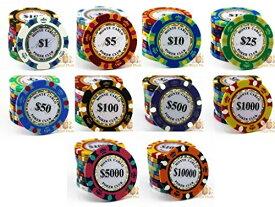 【送料無料】 モンテカルロ 13.5g ポーカーチップ 10種類 50枚セット