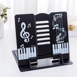 【送料無料】 譜面台 書見台 楽譜スタンド キーボードスタンド 卓上 折りたたみ 黒