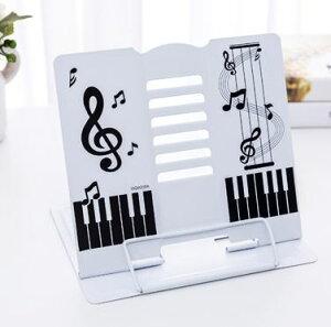 【送料無料】 譜面台 書見台 楽譜スタンド キーボードスタンド 卓上 折りたたみ 白