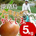 【送料無料】淡路島たまねぎ #かくし玉 5K#