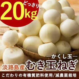 淡路島産ムキ玉ねぎ 20kg剥き玉ねぎの為ゴミが出ず便利です。#むき玉20K#