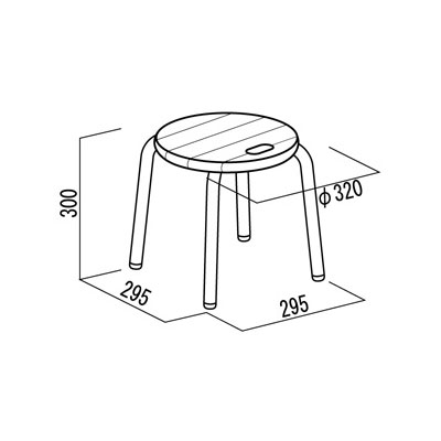 ルネセイコウ頑丈パイプ椅子ハンドルスツールロータイプ幅32×奥行32×高さ30cmパイプ丸椅子パイプイス日本製国産
