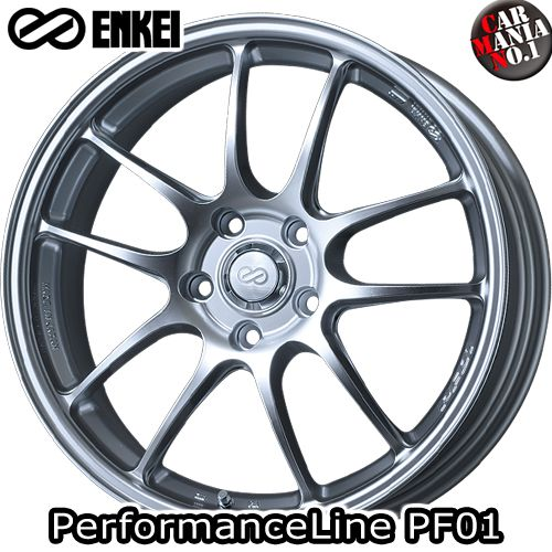 (4本セット) 18×8.0J +35 5/112 ENKEI(エンケイ) パフォーマンスライン PF01. カラー:Sparkle Silver 18インチ 5穴 P.C.D112 ホイール新品4本 PerformanceLine