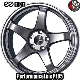 (4本セット) 15×5.0J +45 4/100 ENKEI(エンケイ) パフォーマンスライン PF05 カラー:Dark Silver 15インチ 4穴 P.C.D100 ホイール新品4本 PerformanceLine