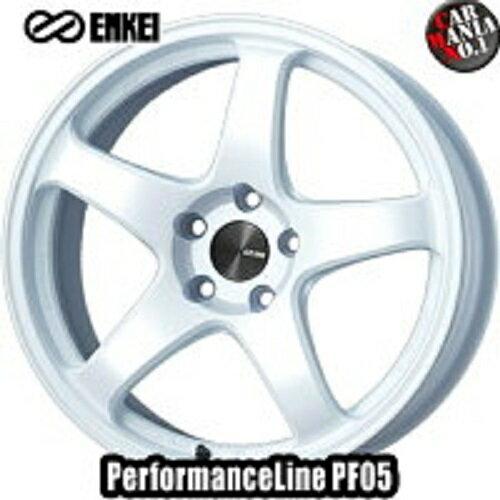 (4本セット) 17×7.5J +45 5/100 ENKEI(エンケイ) パフォーマンスライン PF05 カラー:White 17インチ 5穴 P.C.D100 ホイール新品4本 PerformanceLine