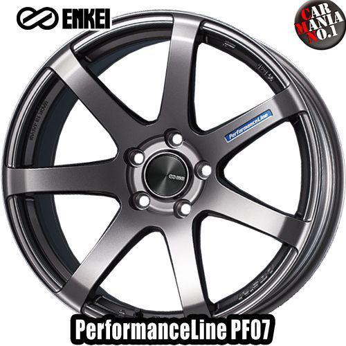 (4本セット) 16×5.0J +45 4/100 ENKEI(エンケイ) パフォーマンスライン PF07 カラー:Dark Silver 16インチ 4穴 P.C.D100 ホイール新品4本 PerformanceLine