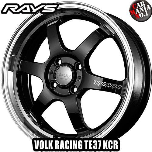 15×5.0J +45 4/100 RAYS(レイズ) ボルクレーシング TE37 KCR カラー:KF 15インチ 4穴 P.C.D100 ホイール新品1本 VOLK RACING 鍛造1ピース