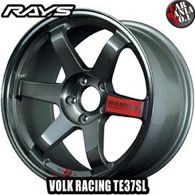 RAYS(レイズ) ボルクレーシング TE37SL 18×9.5J +45 5/100 カラー:PG 18インチ 5穴 P.C.D100 ホイール新品1本 VOLK RACING TE37 SL 鍛造ホイール