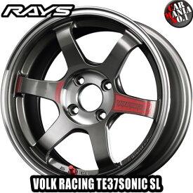 【4本セット】 RAYS(レイズ) ボルクレーシング TE37SONIC SL 15×5.5J +44 4/100 カラー:PG 15インチ 4穴 P.C.D100 FACE-1 ホイール新品4本 鍛造ホイール