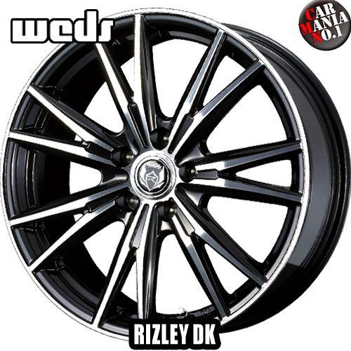(4本セット) 17×7.0J +47 5/100 Weds(ウェッズ) ライツレーDK カラー:ブラックメタリック/ポリッシュ 17インチ 5穴 P.C.D100 ホイール新品4本 RIZLEY DK