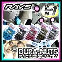RAYS(レイズ)ジュラルミンロック&ナットセット DURA-NUTS スタンダードタイプ19HEX 5穴用 ■サイズ:M12×1.25/M12×1.5 ■カラ...