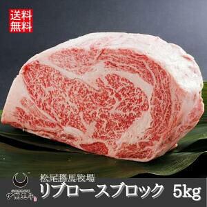 【送料無料】リブロース ブロック 肉 5kg 伊萬里牛 伊万里牛 松尾勝馬牧場 【和牛】 国産 冷凍 ギフト のし対応