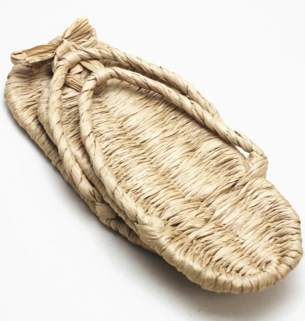 【日用品/雑貨 草鞋(わらじ)(わら草履の代用)】 洗える紙製品 エコ紙草履(ぞうり) Lサイズ 1足〜 露地草履に