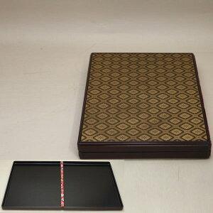 【茶器/茶道具 菓子器】 干菓子器 花菱亀甲紋 (2枚の開き盆) 「本」を表しています。