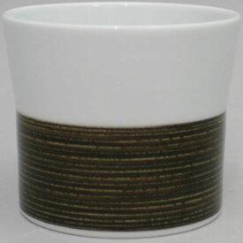 【湯のみ(湯呑み・湯飲み・コップ)】 フリーカップ 筒 セピア 麻の糸 1個〜 白山陶器製