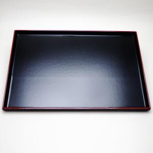 【煎茶道具 煎茶盆】 布目煎茶盆 黒面朱(小又は大) サイズ巾:尺O又は尺一