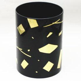【茶道具 水指/水器】 切箔 葉蓋水指 木製 玄々斎好写 (裏千家用)【smtb-KD】