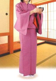 【茶器/茶道具 お稽古着(御稽古着/おけいこ着) 着物】 四季の彩り 袖付和装稽古着 フリーサイズ 上下二分式