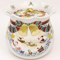 【茶器/茶道具・水指・クリスマス】・白釉・クリスマス・西尾瑞豊作・木箱