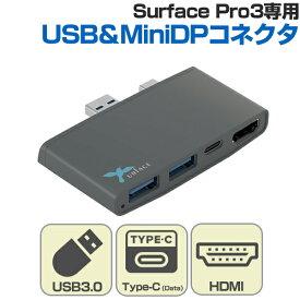 「Docking TypeC 3.1 Hub & HDMI for Surface Pro3」人気の「Surface Pro3」専用の3種類のインターフェイスに対応したマルチハブアダプタ。Type-C・Type-C3.0・Type-C3.1・USB3.0・USB2.0・USB・Surface・SurfecePro3・Pro3・タブレット・HDMI・映像出力「テレワーク」